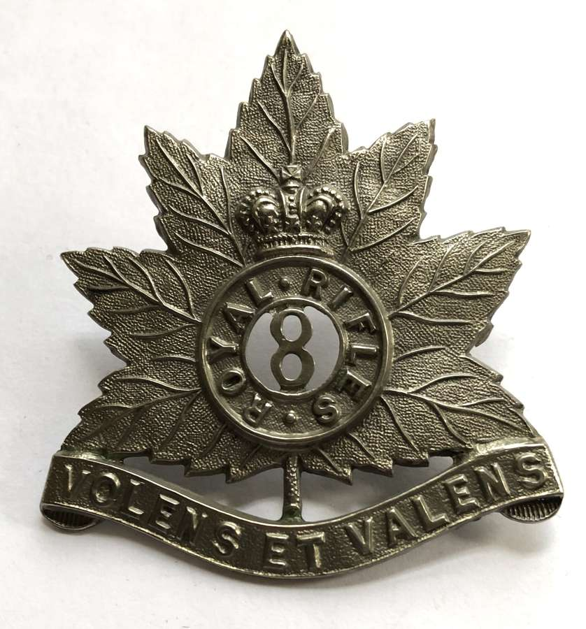 Canada, 8th Royal Rifles Victorian cap badge
