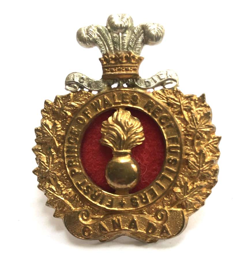 Canada. 1st Prince of Wales Regiment of Fusiliers cap badge 1901-11