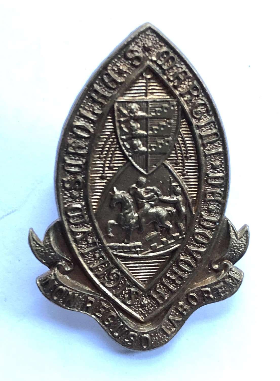 Dover College OTC, Kent cap badge.