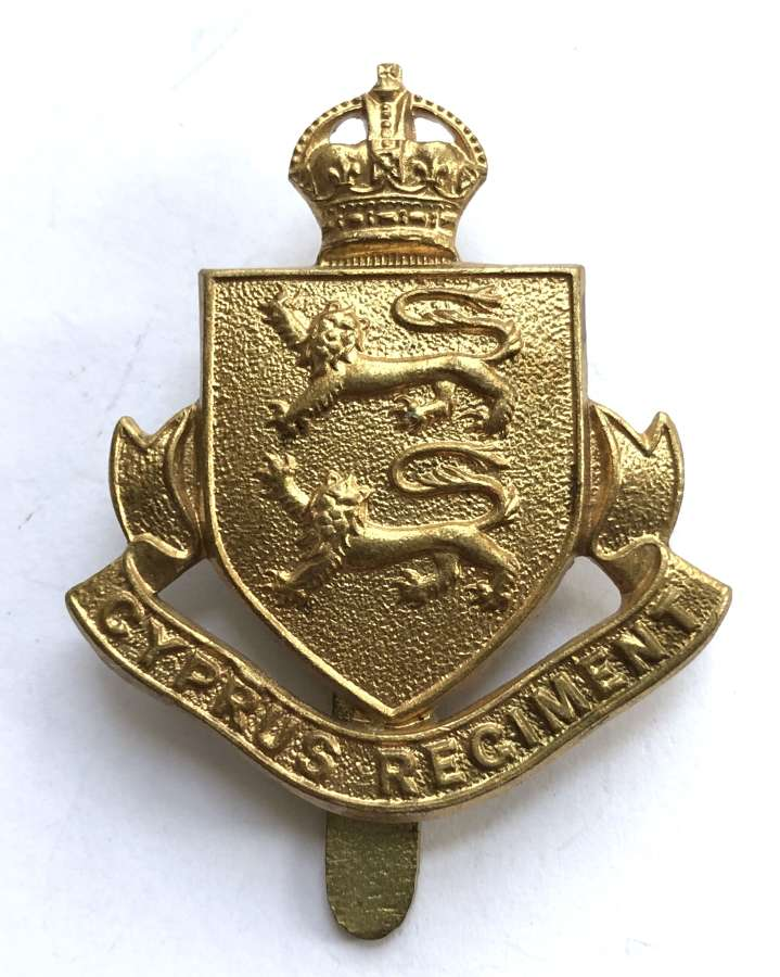 Cyprus Regiment WW2 brass cap badge