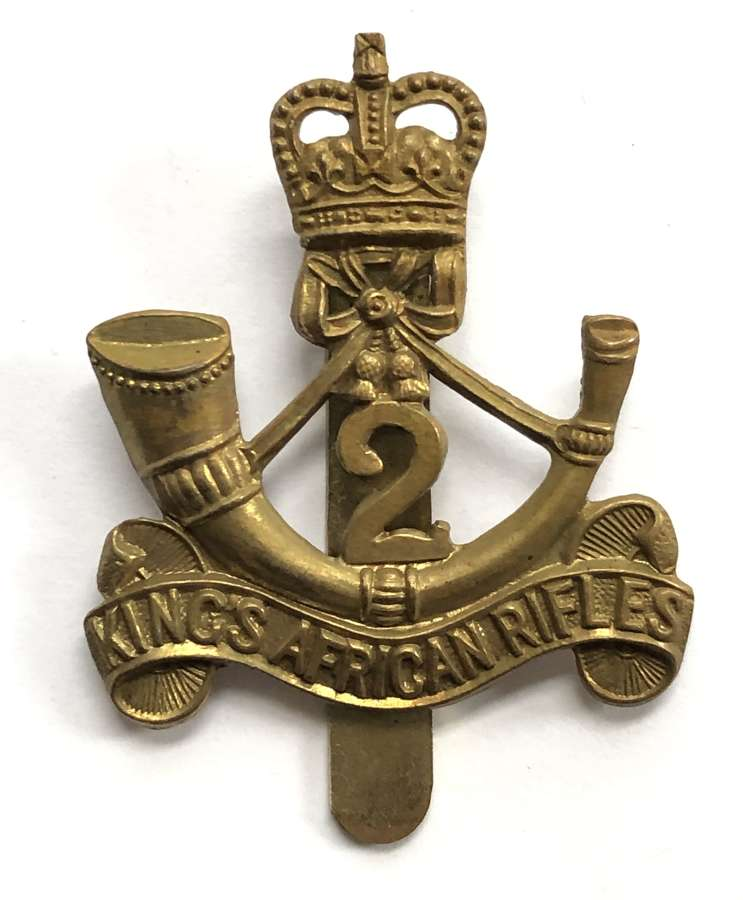 2nd (Nyasaland) King's African Rifles cap badge by Firmin, London