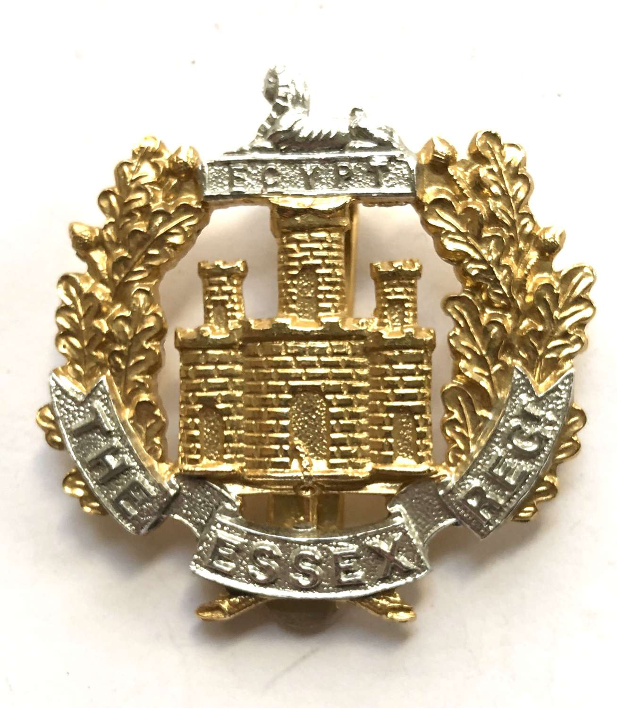 Essex Regiment anodised early 1950's cap badge by Dowler, Birmingham