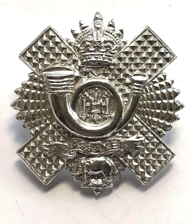 Highland Light Infantry anodised early 1950's HLI glengarry badge