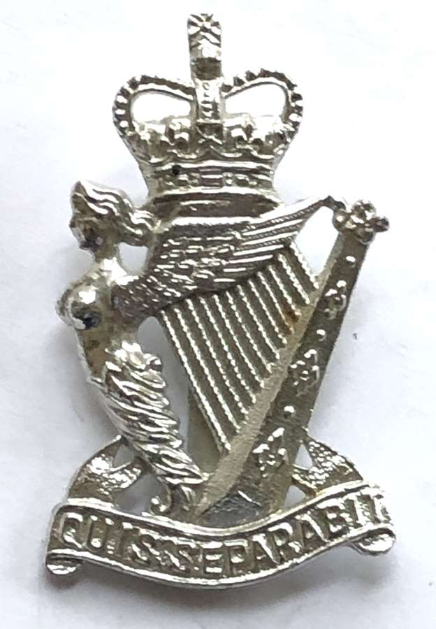 Royal Ulster Rifles anodised early 1950's cap badge by Smith & Wright