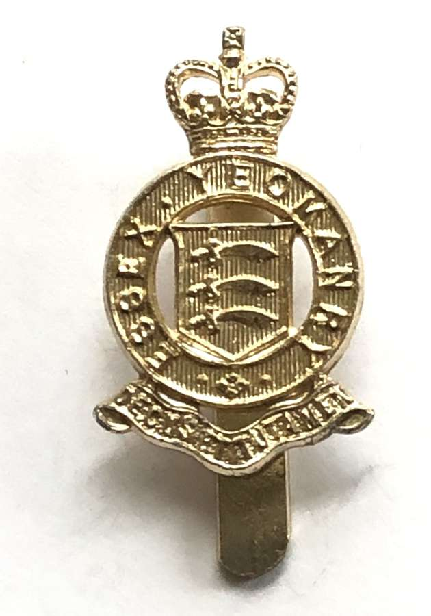 Essex Yeomanry anodised 1960's beret badge by JR Gaunt, B'ham