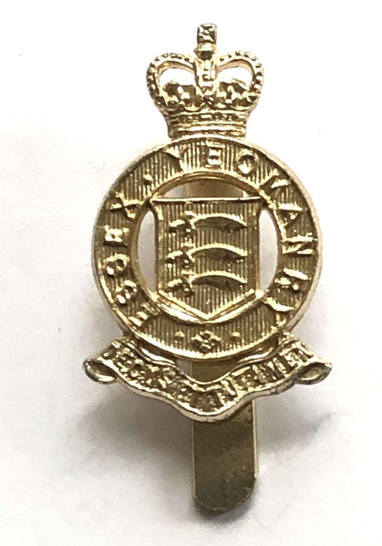 Essex Yeomanry anodised 1960's beret badge by JR Gaunt, B'ham