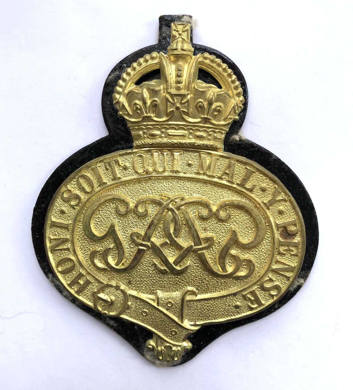Grenadier Guards GVIR 1939 dated valise badge