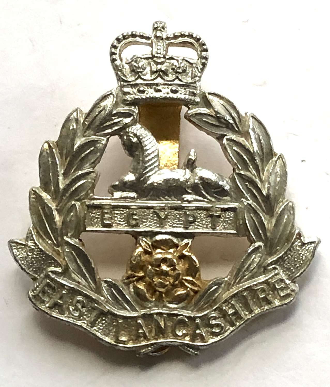 East Lancs Regiment anodised early 1960's cap badge by Smith & Wright