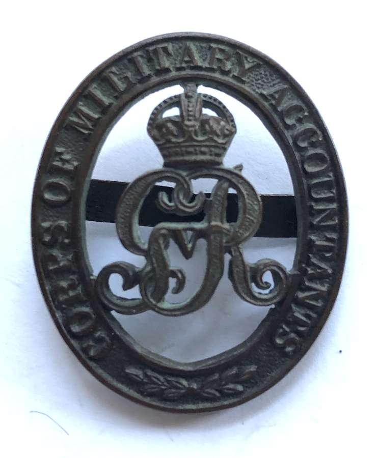 Corps of Military Accountants OSD cap badge circa 1919-27