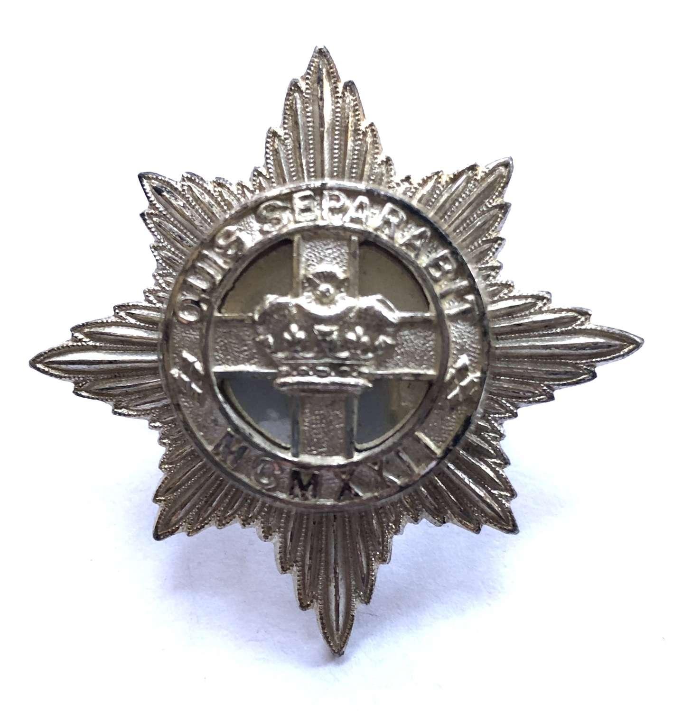 4th/7th Royal Dragoon Guards Officer's silvered cap badge