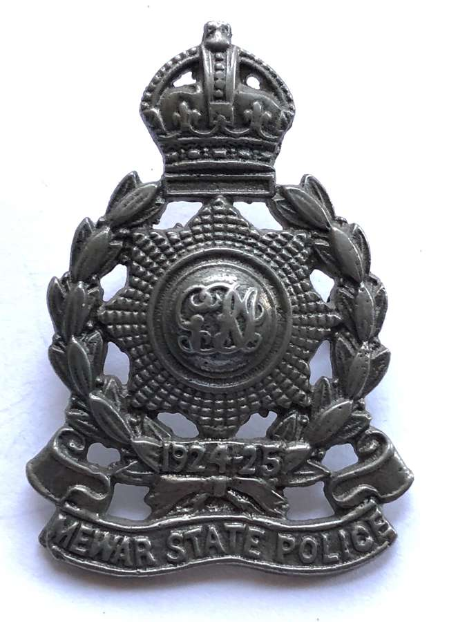 India. Mewar State Police cap badge