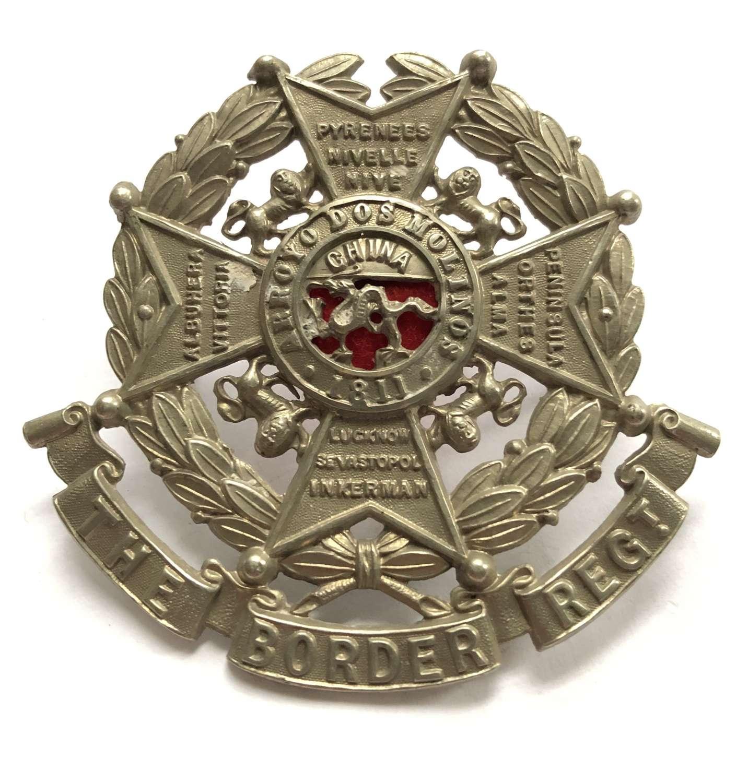 Border Regiment post 1883 helmet plate centre
