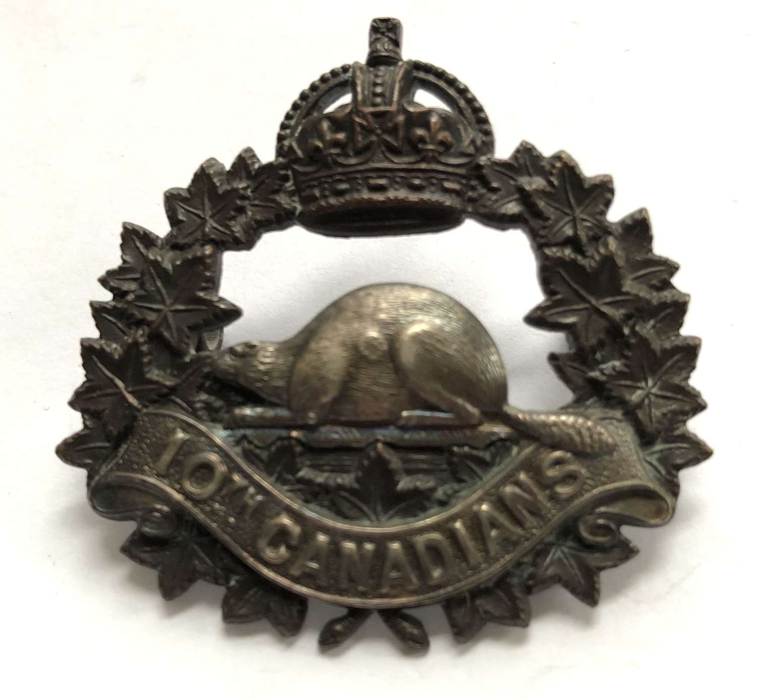 Canada. 10th Bn. CEF Officer's WW1 cap badge by Hicks & Sons, London