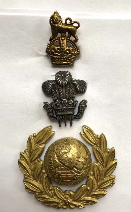 Plymouth Division Royal Marine attributed Drum Major's cap badge