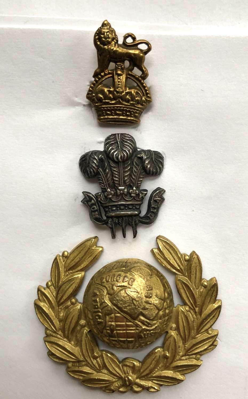 Plymouth Division Royal Marine attributed Drum Major's cap badge