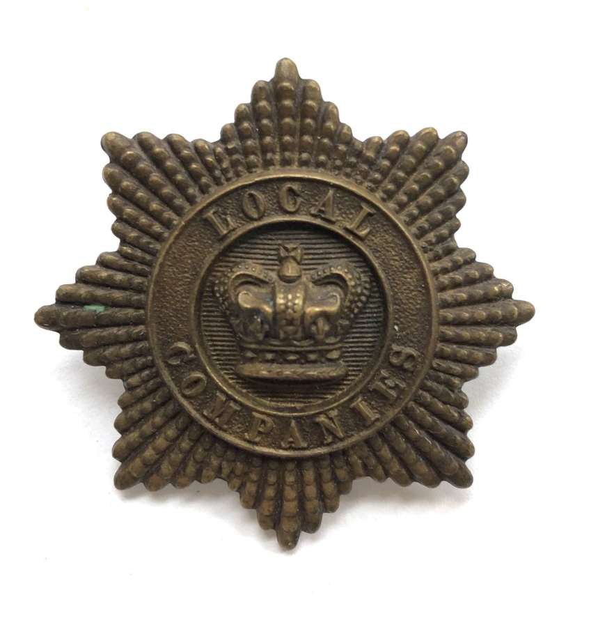 Local Companies of Militia Victorian glengarry badge