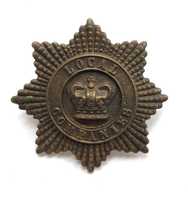 Local Companies of Militia Victorian glengarry badge