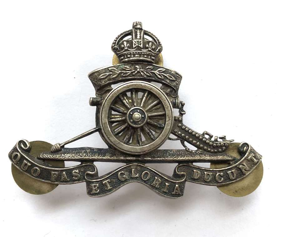 Volunteer Artillery Officer's pouch badge c1901-08