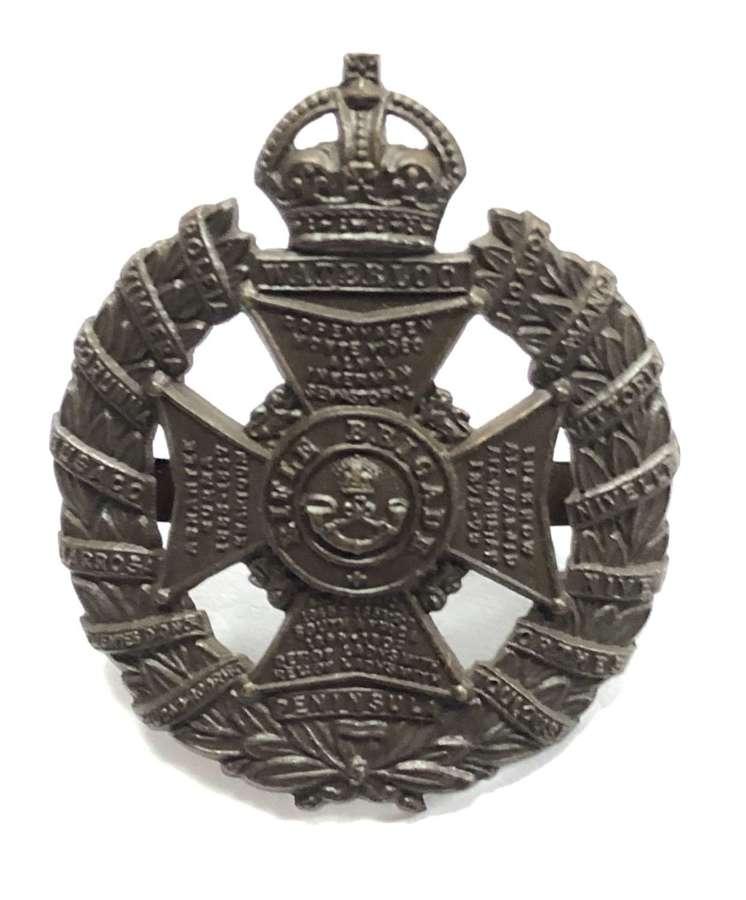 Rifle Brigade WW1 OSD bronze cap badge
