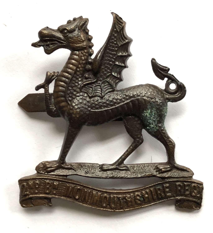 2nd Bn. Monmouthshire Regiment OSD bronze cap badge