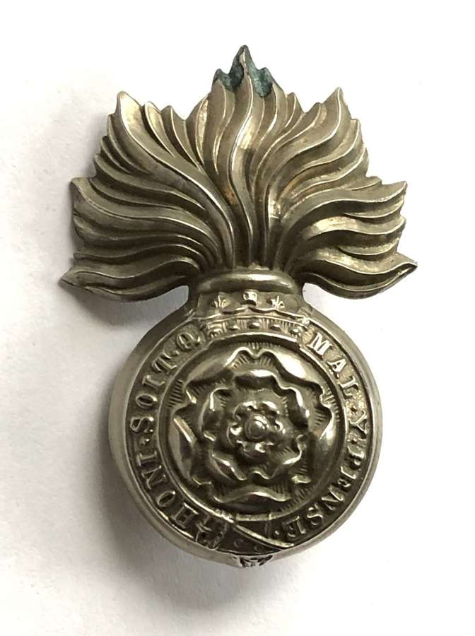 VB Royal Fusiliers Victorian Field Service  cap badge c1896-1901