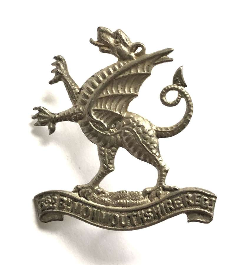 3rd Bn. Monmouthshire Regiment Officer's cap badge