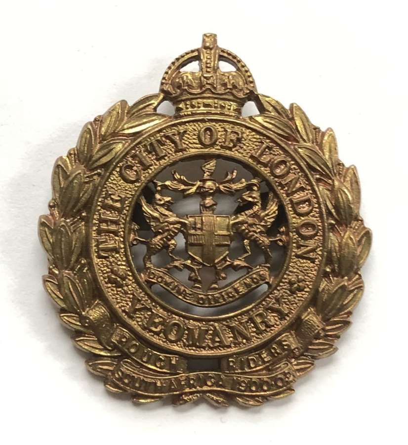 CLY Rough Riders OSD cap badge by J & Co c1908-26