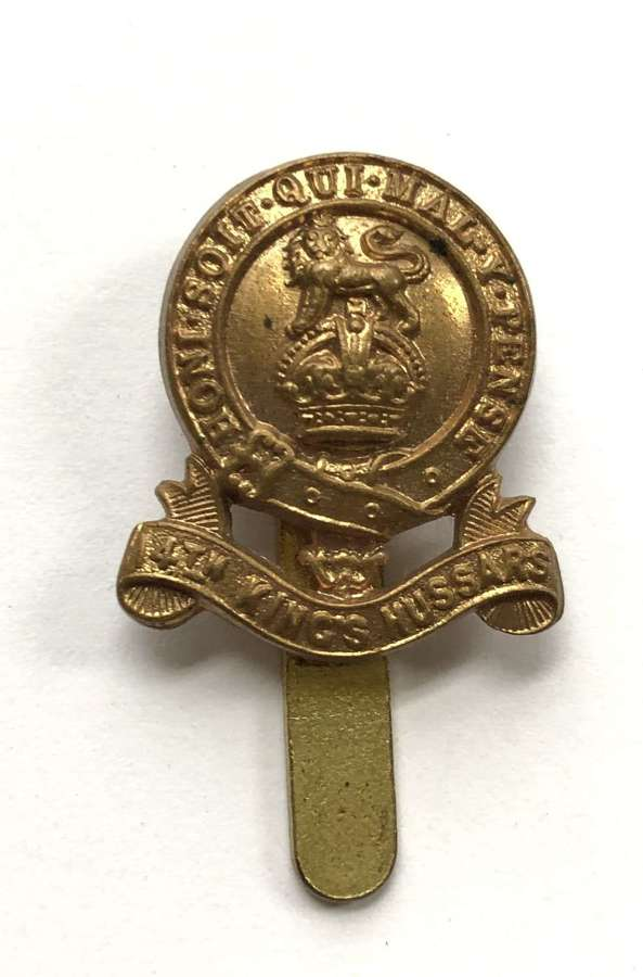 14th King's Hussars `WW1 field service cap badge