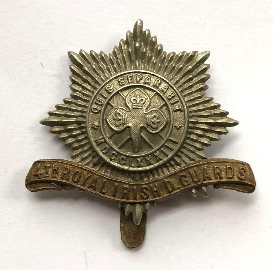 4th Royal Irish Dragoon Guards cap badge circa 1896-1922