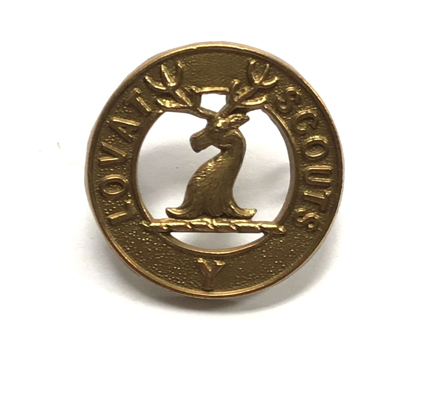 Lovat Scouts Yeomanry larger pattern brass cap badge