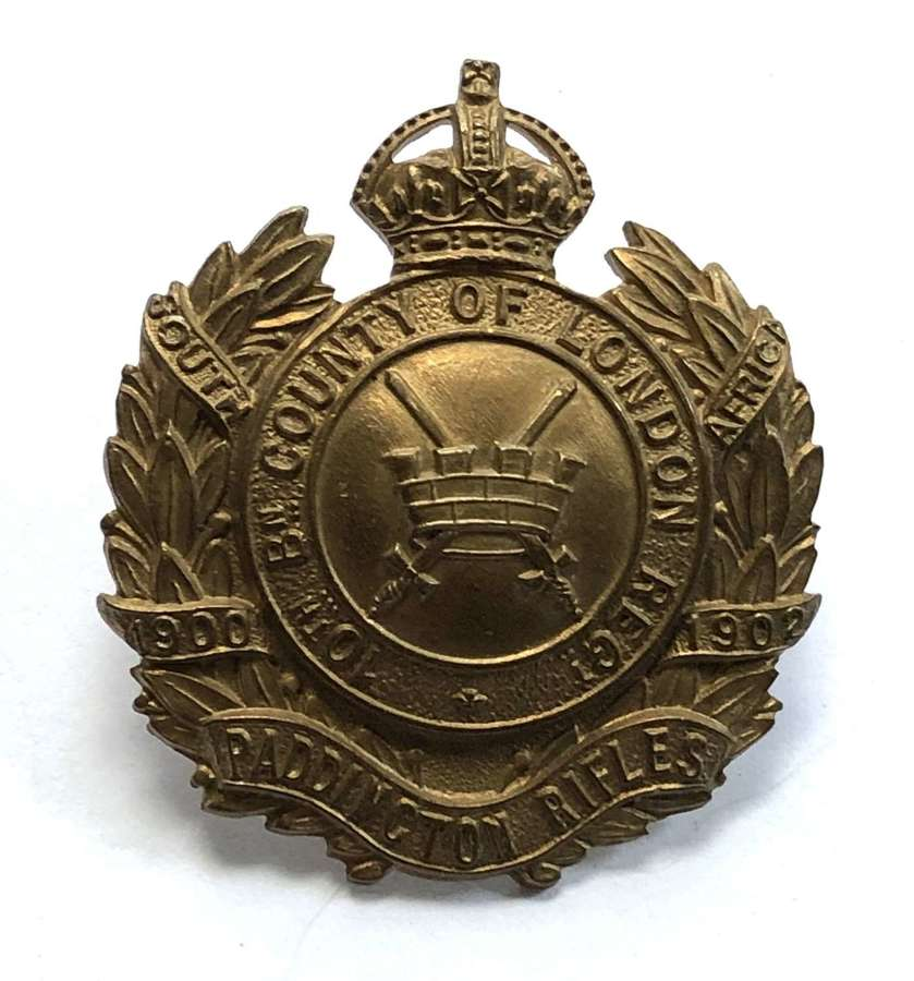 10th London Regiment (Paddington Rifles) cap badge circa 1908-12