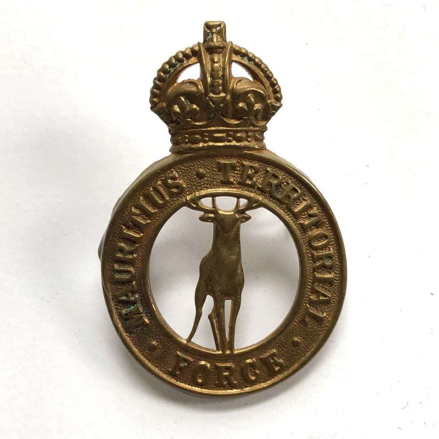 Mauritius Territorial Force brass cap badge by Firmin, London