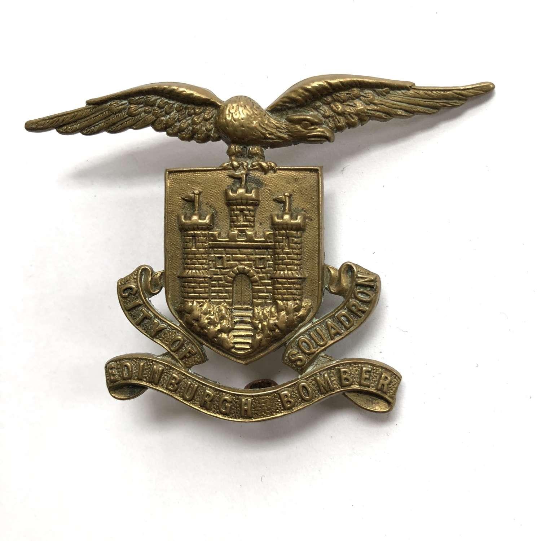 City of Edinburgh Bomber Squadron pare piper's head-dress badge