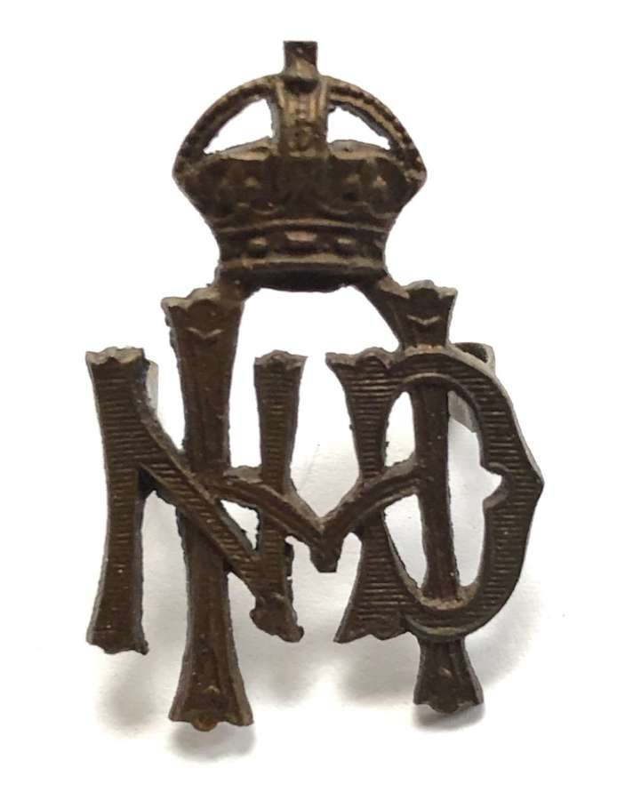 North Devon Hussars OSD cap badge circa 1908-20.