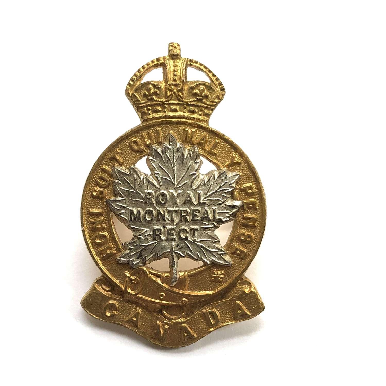 Canadian. Royal Montreal Regiment Officer's cap badge
