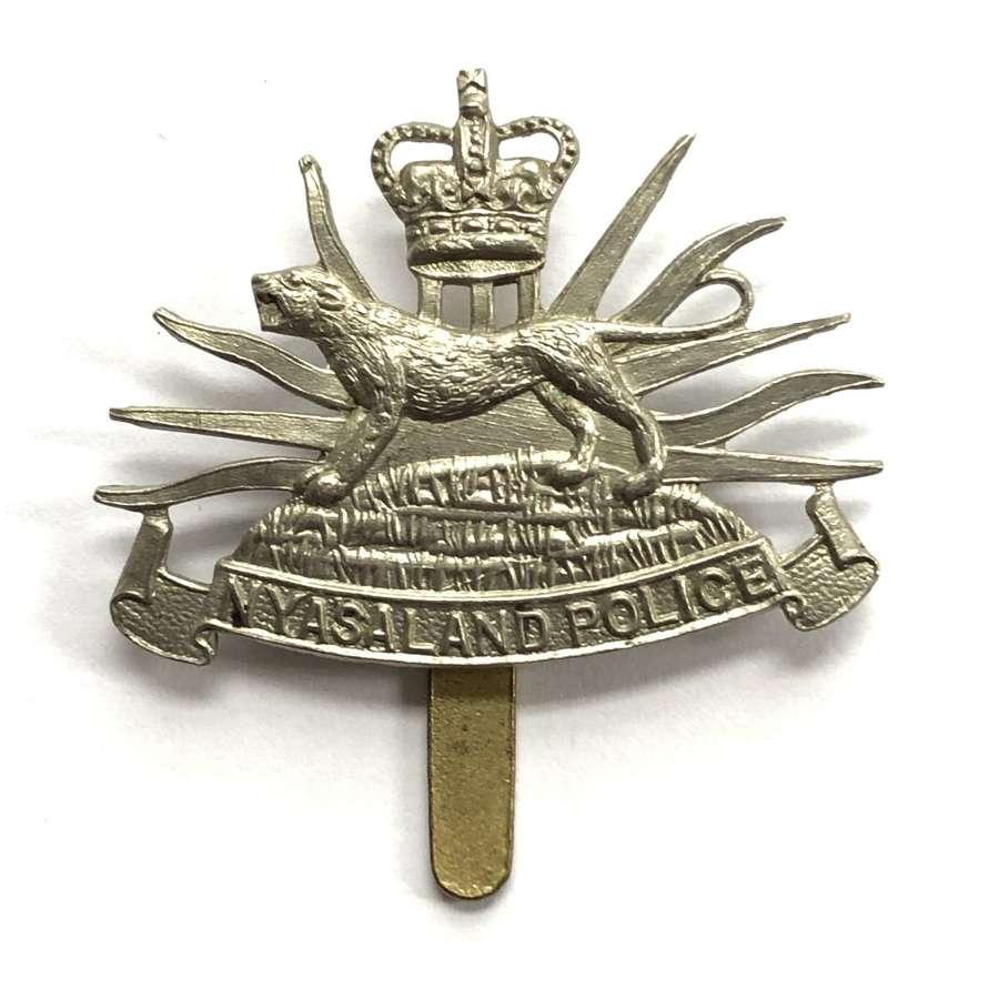 Nyaserland Police cap badge circa 1953-64 by Dowler, Birmingham