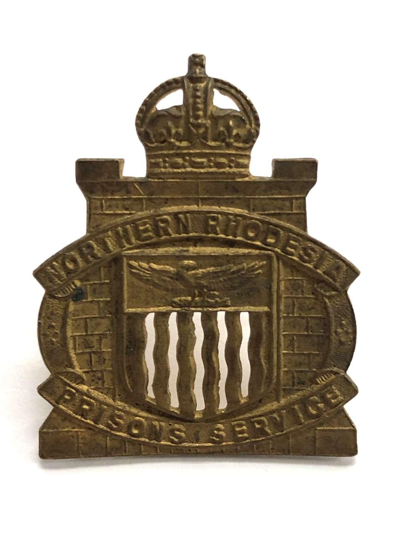 Northern Rhodesia Prison Service pre 1953 cap badge.