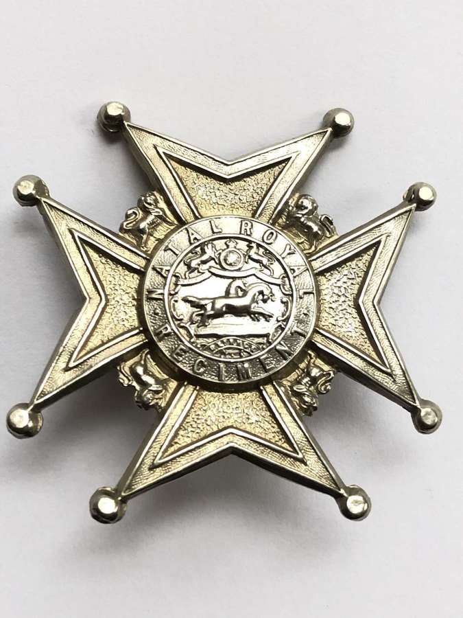 South African Natal Royal Regiment post 1902 head-dress badge