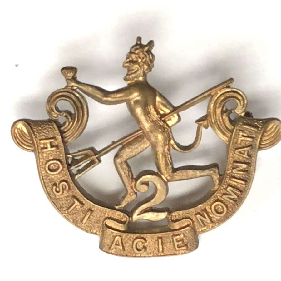 Canadian 90th (Winnipeg Rifles) Bn. CEF WW1 cap badge by Hicks