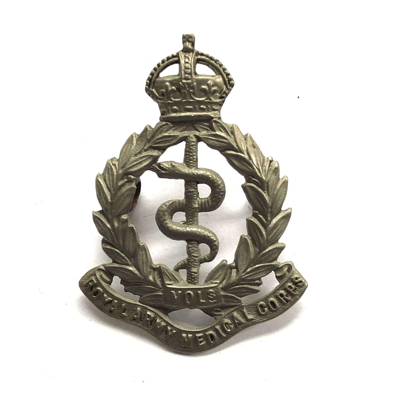 Royal Army Medical Corps Volunteers Edwardian cap badge circa 1901-08