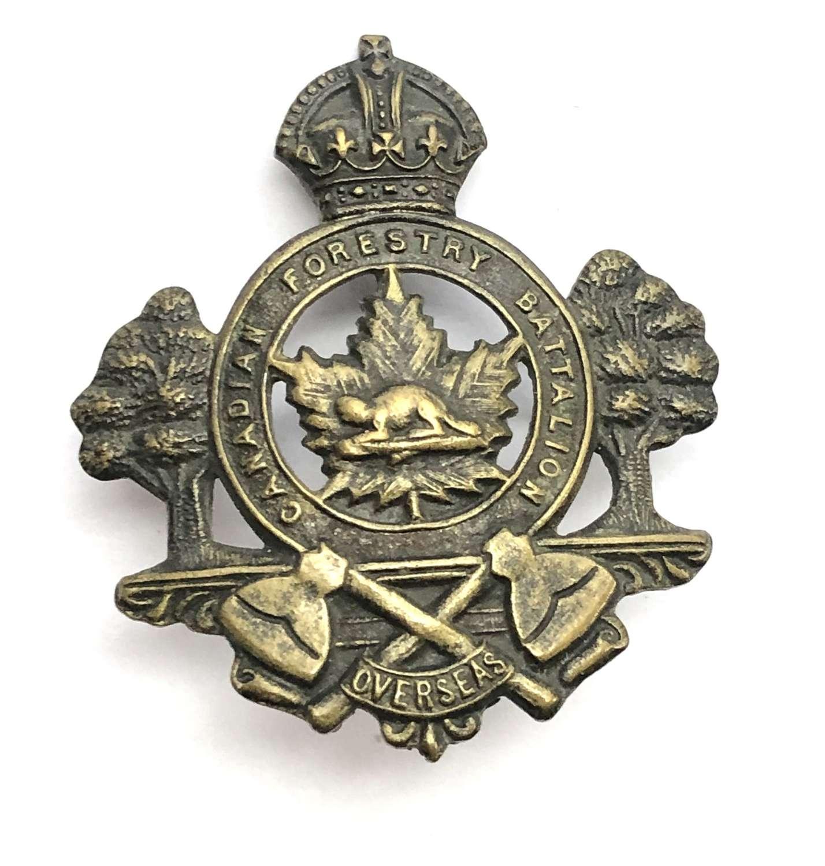Canadian Forestry Battalion CEF WW1 cap badge