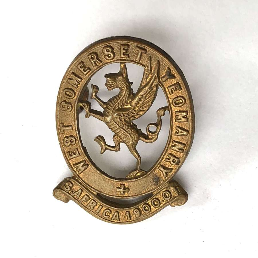 West Somerset Yeomanry cap badge circa 1905-08