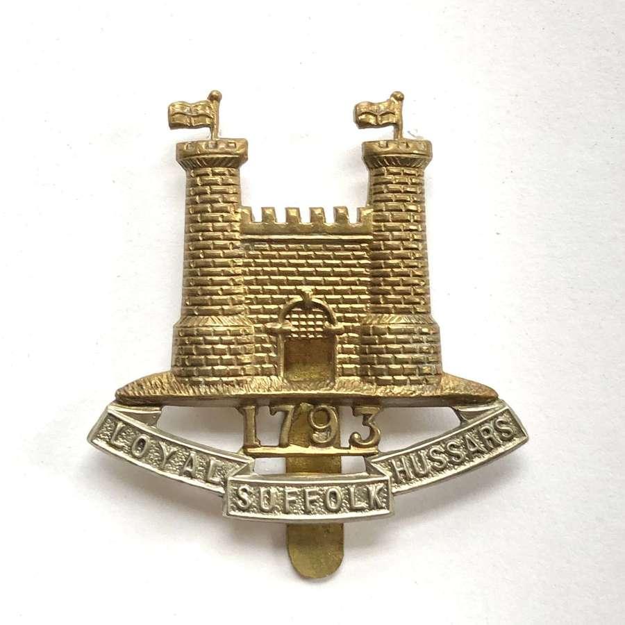 Loyal Suffolk Hussars cap badge