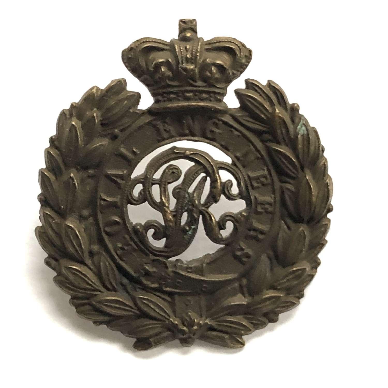 Royal Engineers Victorian cap badge circa 1896-1901