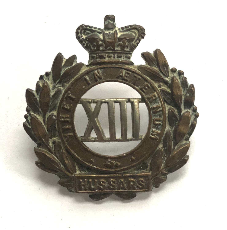 13th Hussars Victorian OR's cap badge circa 1896-1901