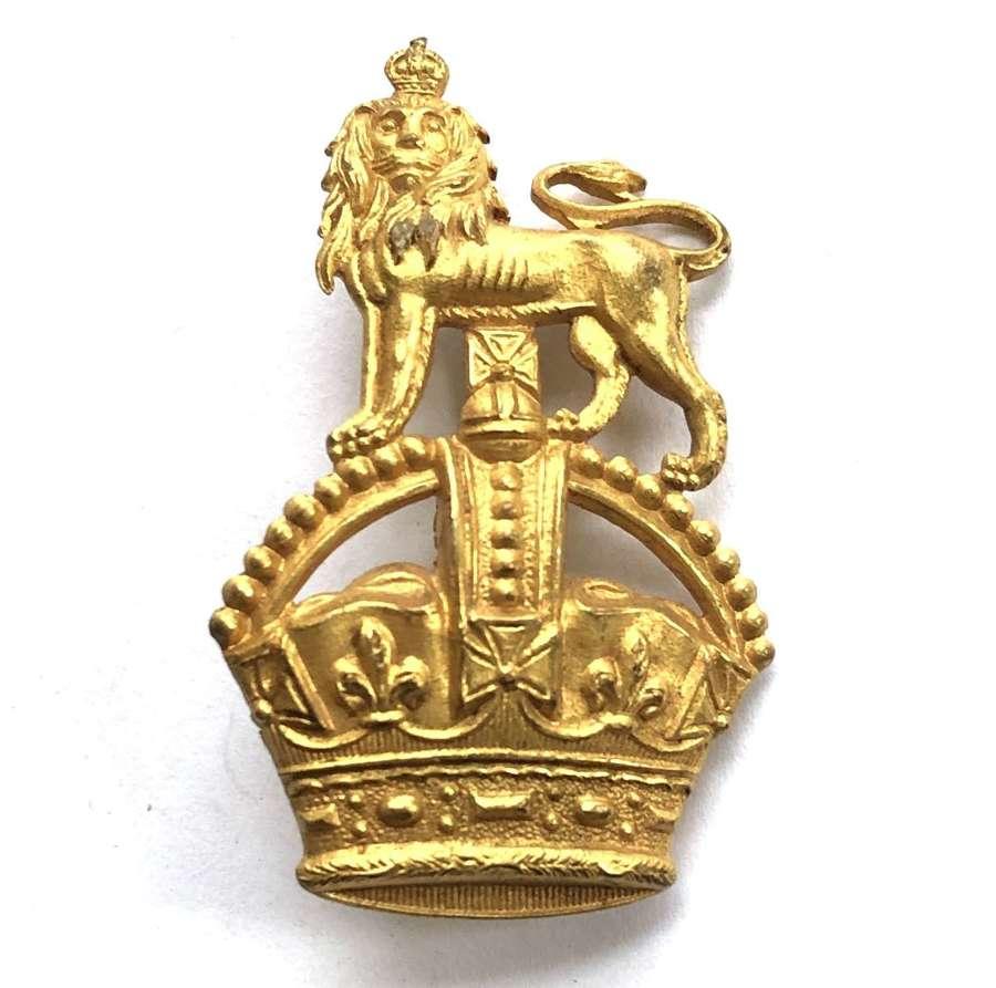 Brigadier's Foreign Service helmet pagri badge circa 1901-52