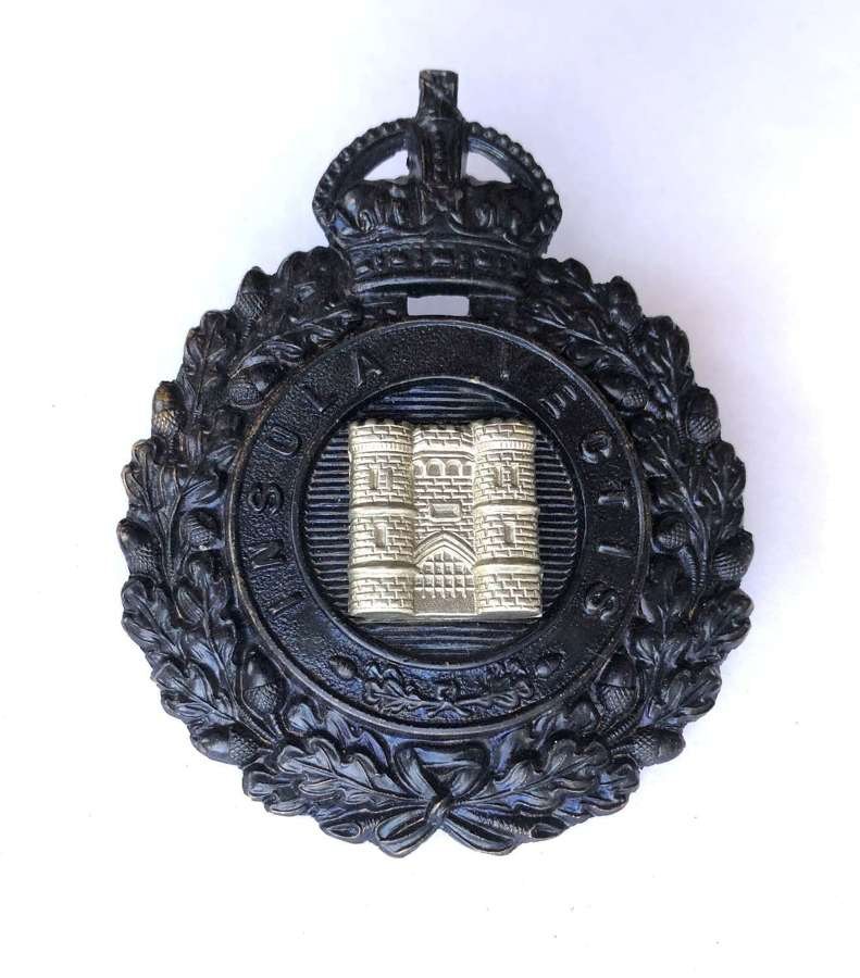 Isle of Wight Constabulary pre 1943 police helmet plate