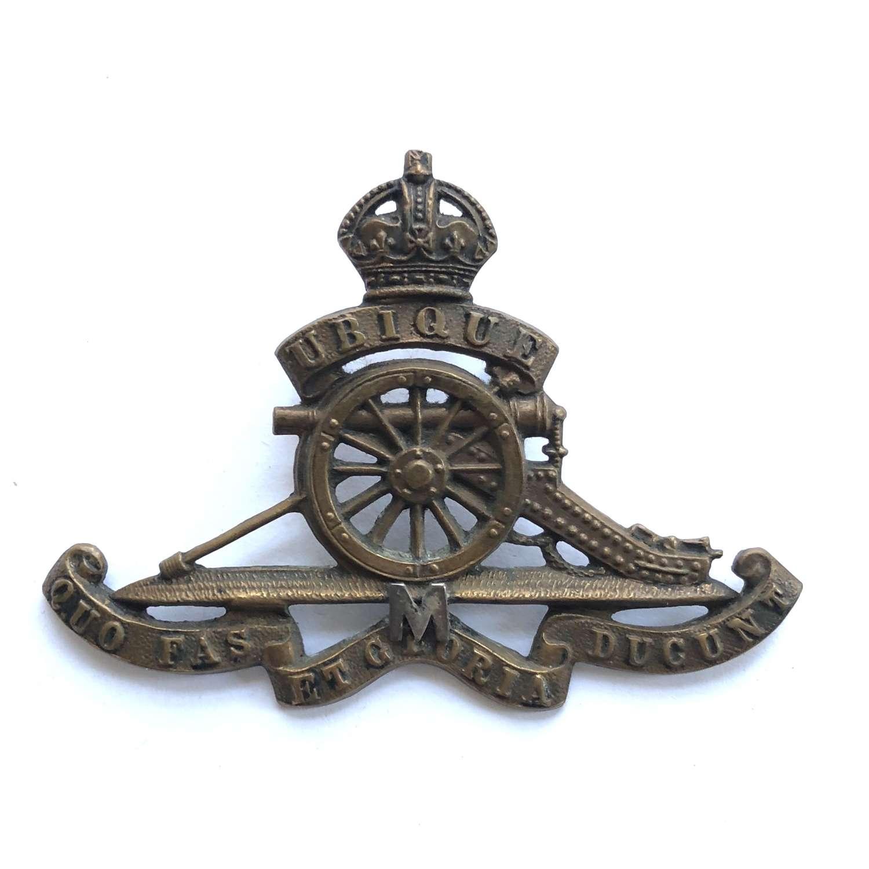Royal Artillery Militia cap badge circa 1902-08.
