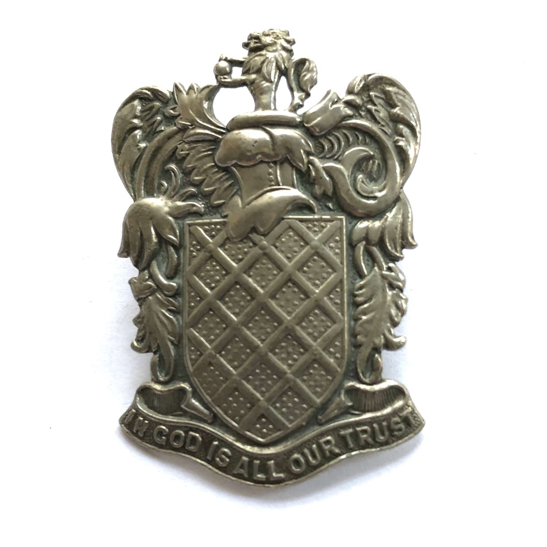 Aldenham School OTC 1st pattern cap badge