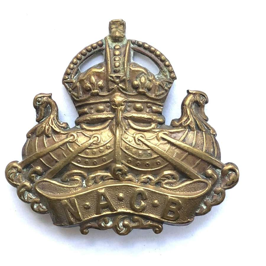 Naval and Army Canteens Board oost 1917 WW1 cap badge